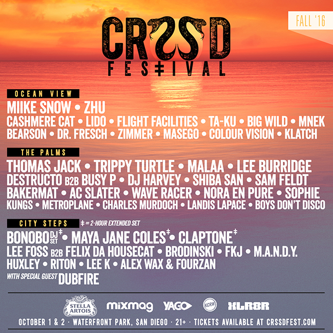 CRSSD Lineup Fall 2016