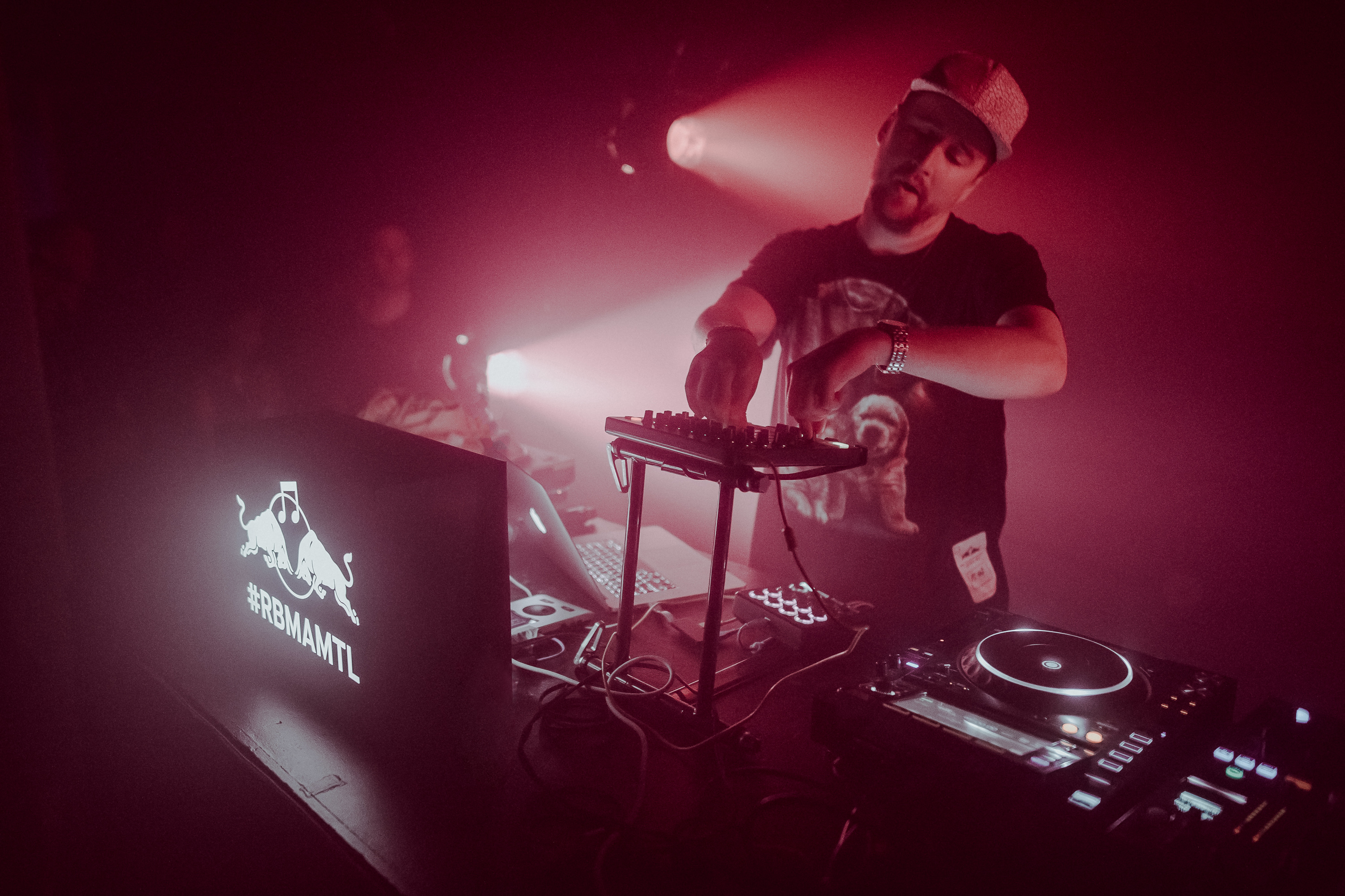 Machinedrum performs at Turbo Crunk during the Red Bull Music Academy in Montreal, September 24 to October 28, 2016
